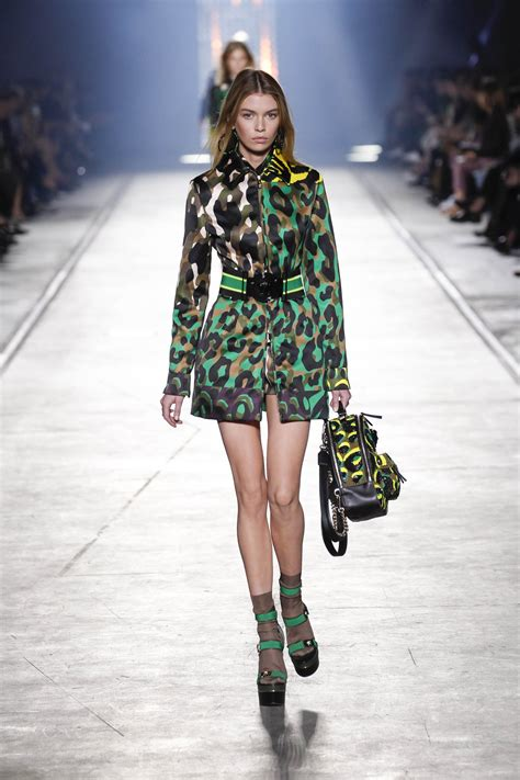 A Fashionable by Versace Glams Up Camouflage With Animal Prints For Next