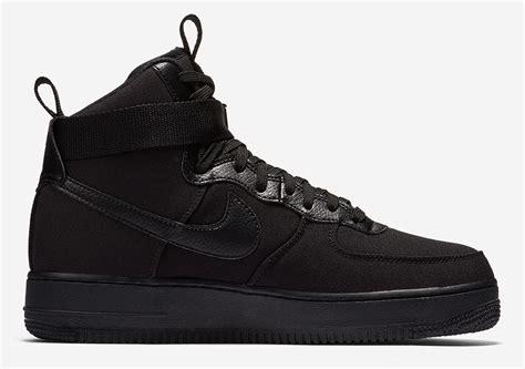 Nike Air 1 High nike air 1 high black canvas ah6768 001 release info sneakernews