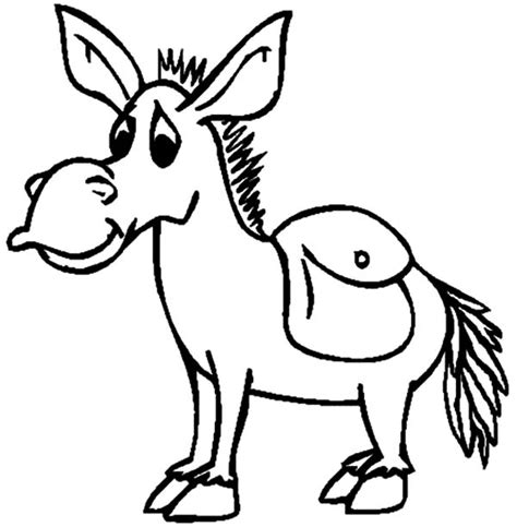 mexican donkey coloring page mexican donkey look sad coloring pages color luna