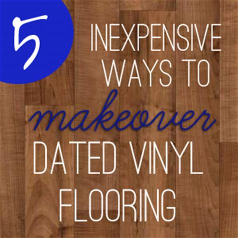 Redoing Bathroom Ideas by How To Update Dated Vinyl Sheet Flooring Inexpensively