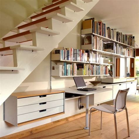 Narrow Armchair How To Efficiently Add Storage Under The Stairs
