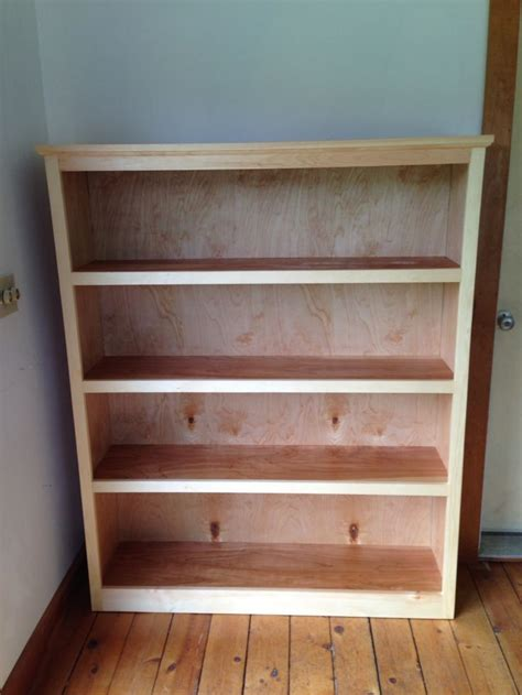 easy bookshelf made with kreg jig and furniture grade