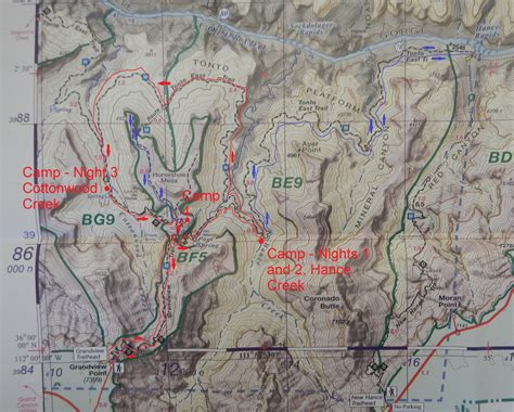 grand map trails quot backpacking grand april 2014 quot