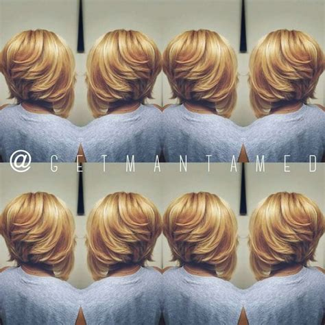 blonde bob no leave out full weave sew in with no leave out with a razor cut bob