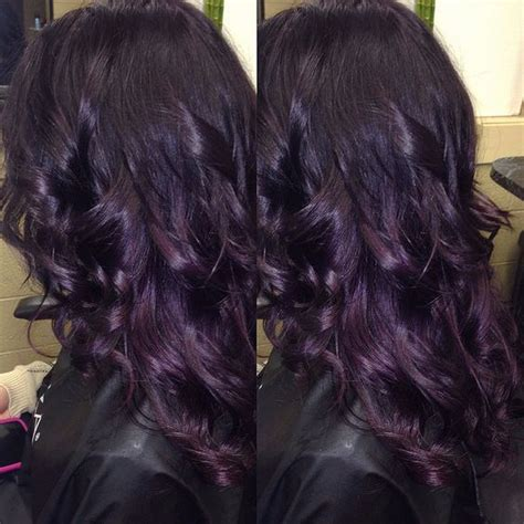 purple black hair color purple hair color nail styling