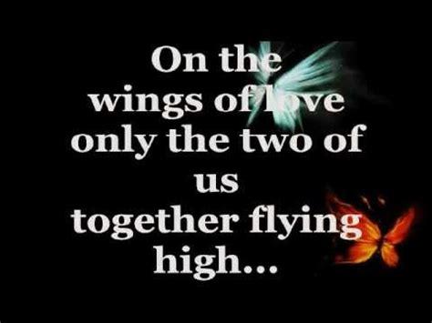 Love In Song Wings Youtube | on the wings of love lyrics jeffrey osborne youtube