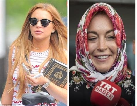 hollywood actress with quran hollywood star lindsay lohan says alaikum salam before