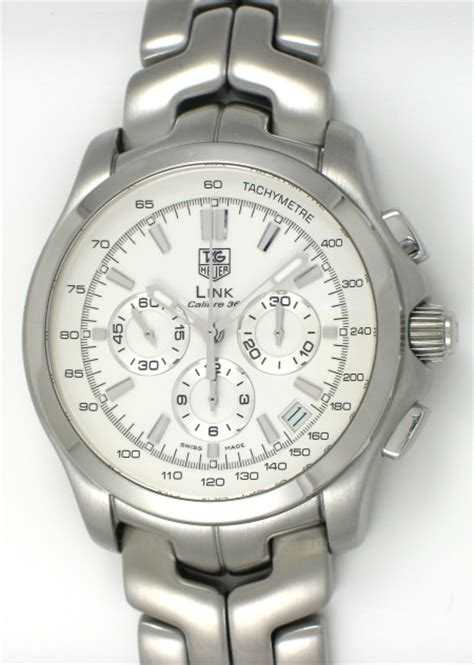 Tagheuer Cal 36 Silver tag heuer link calibre 36 chronograph ct511b ba0564
