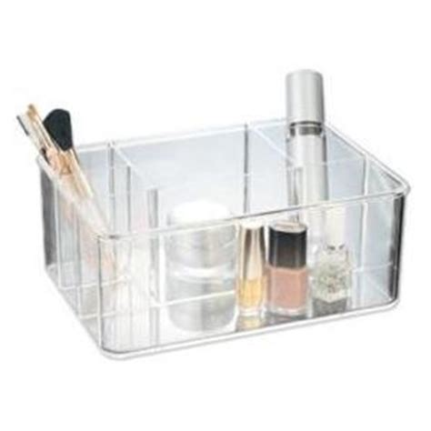 Acrylic Bathroom Storage Acrylic Cosmetic Organiser 5 Compartments A11 Organise At The Storage Shop