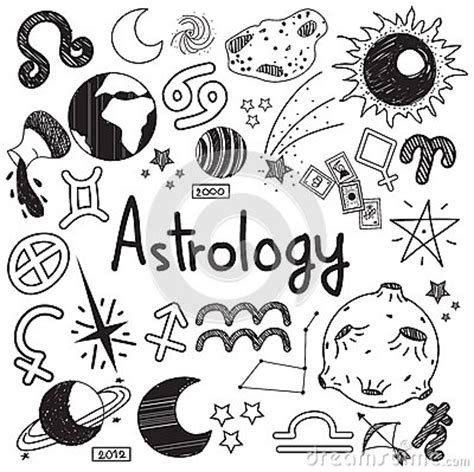 doodle sign in astrology and fortunetelling doodle sign and symbol doodle