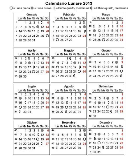 Calendario Lunare Calendario Lunare 2016