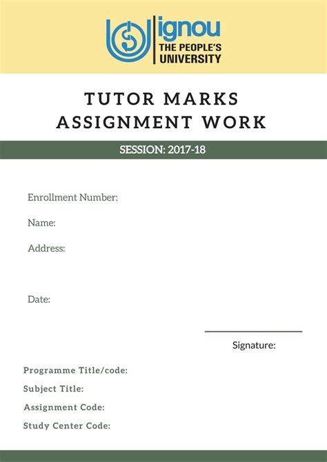 design cover page for assignment download cover page design for ignou assignments 2018