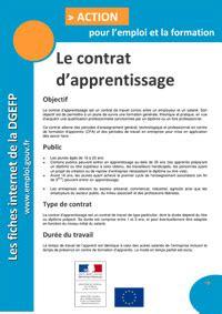 fiche de salaire contrat dapprentissage contrats d apprentissage et professionnalisation mission