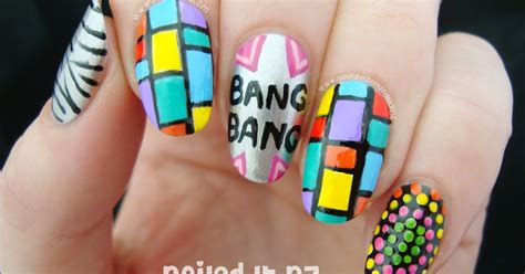 jessie nail art tutorial quot bang bang quot nail art tutorial ariana grande nicki minaj