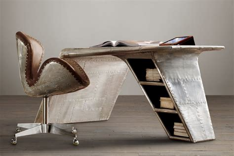 aviator desk chair restoration hardware 13 designs that bring reclaimed aeroplane parts into your