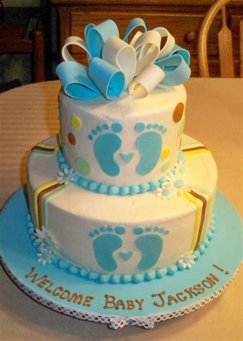 Boy Or Baby Shower Cake by Bobbie S Cakes And Cookies Baby Boy Shower Cakes