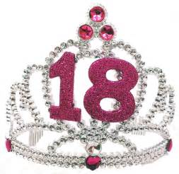 happy 18th tiara glitter girls birthday sparkling princess