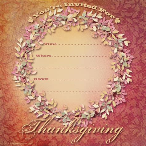 7 Best Images Of Thanksgiving Dinner Invitation Templates Printable Free Thanksgiving Free Thanksgiving Invitation Templates