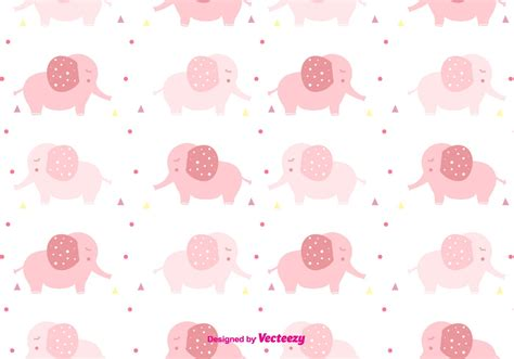 cute elephant pattern girly baby elephant pattern download free vector art