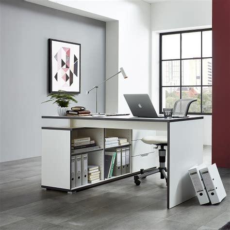 wooden corner computer desk alantra wooden corner computer desk in white with storage
