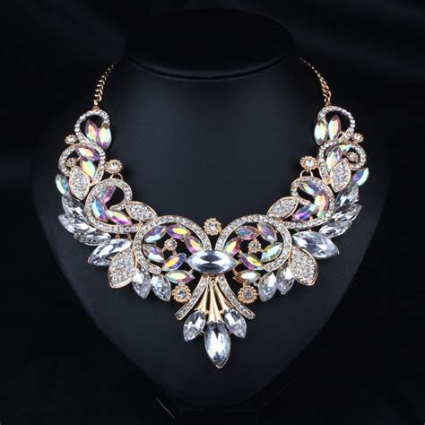 Kalung Fashion Statement Necklace Khf 054 cheap bib smock buy quality necklace bib directly from