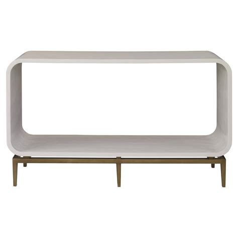Ivory Console Table Kurt Modern Ivory Smooth Brass Rounded Console Table Kathy Kuo Home