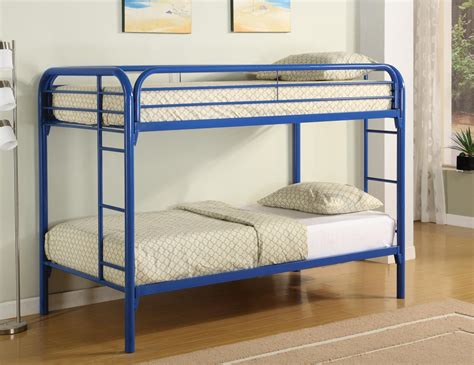 blue bunk bed space saving bunk bed design ideas for kids bedroom vizmini