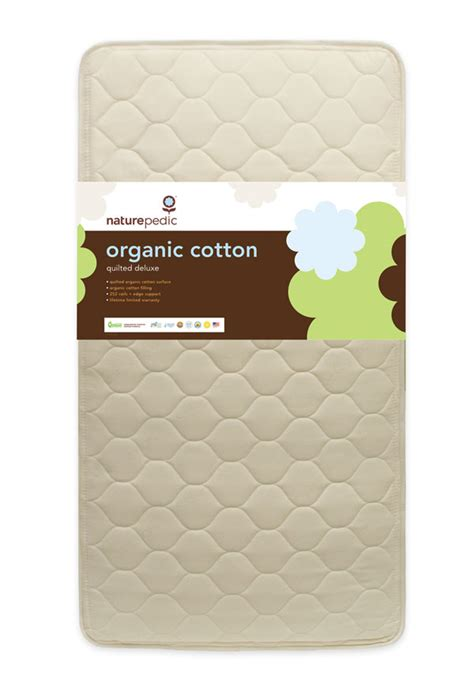 Crib Mattress Organic by Naturepedic Quilted Organic Cotton Deluxe 252 Crib