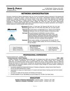 Network Administartion Sle Resume by Curriculum Vitae Sle For Business Administration 5