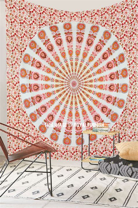 Large Colorful Bohemian Mandala Tapestry Indian Hippie
