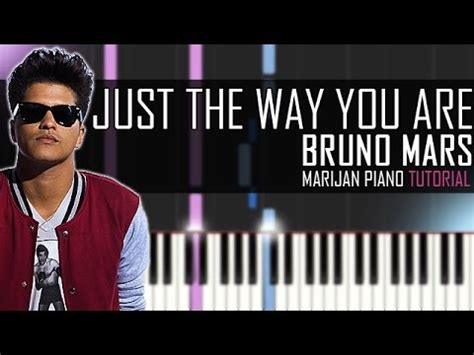 tutorial piano just the way you are how to play bruno mars just the way you are piano