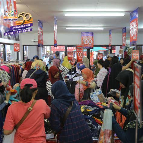 Harga Celana Merk Edwin diskon besar di pekan terakhir jakarta fair kemayoran 2017