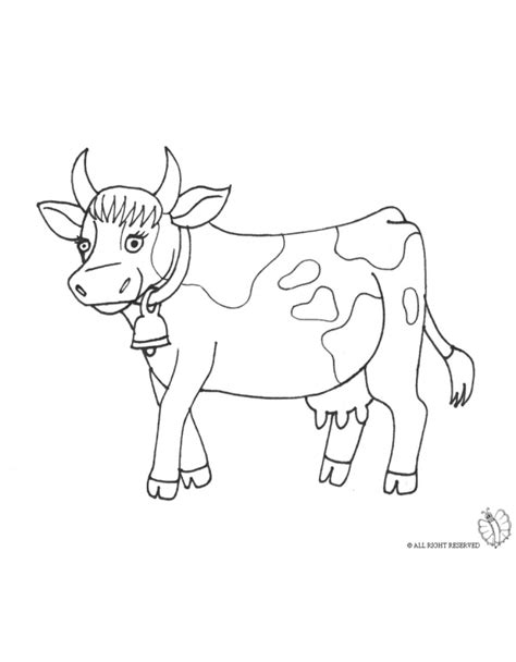 Cow Bell Coloring Page | cow bell page coloring pages