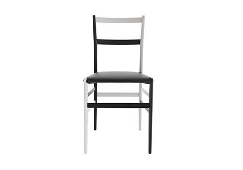 bianco sedie 699 imbottita bianco nero sedia milia shop