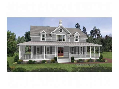 Small Country House Plans With Wrap Around Porches by Colonial House Plans With Wrap Around Porches Country