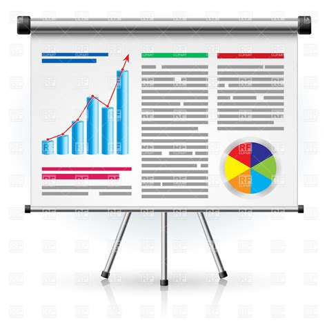eps format ppt presentation screen with business activities royalty free