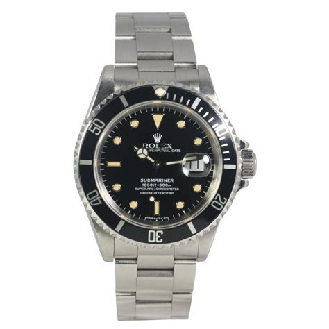 rolex pre owned mens submariner date 16610