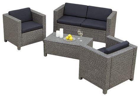 venice 4 outdoor wicker sofa set contemporary