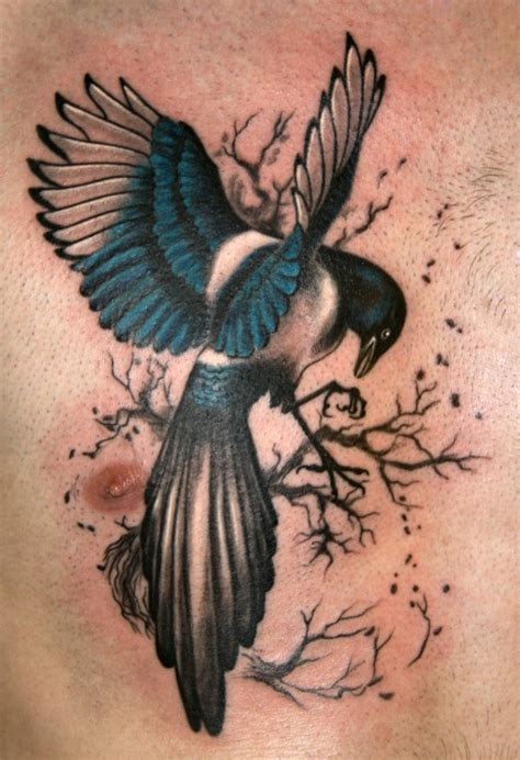 magpie tattoo beautiful canada new canada