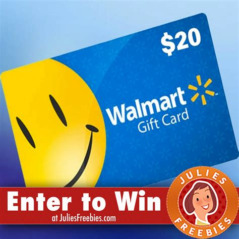 Enter To Win Walmart Gift Card - win a 20 00 walmart gift card julie s freebies