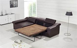 Modern Leather Sofa Beds T136 Modern Brown Leather Sofa W Pull Out Sofa Bed