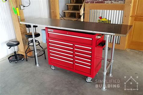 how to build a garage bench how to build a garage workbench simplified building