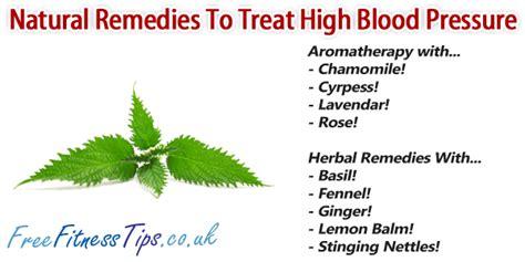 remedies to treat high blood pressure free