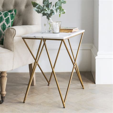 Order Ikea Catalog stellar white marble side table