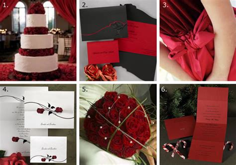 rose themes in go red for a romantic wedding theme