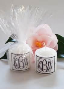 candles and favors monogram swarovski candle wedding favors 2 designs