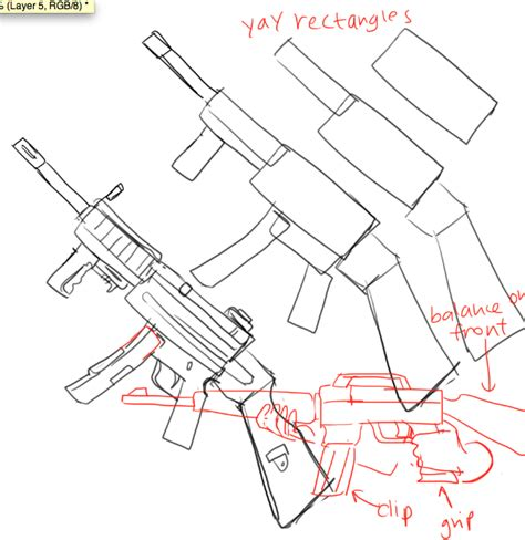 how to draw doodle guns kelpls ggguns and stuf i forgot who asked for it