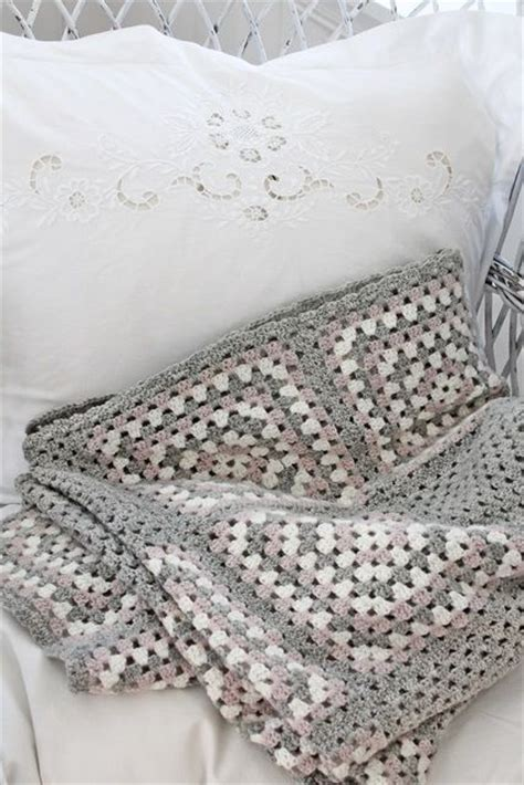 grey pattern blanket big granny square blanket in grey pink and eggshell no