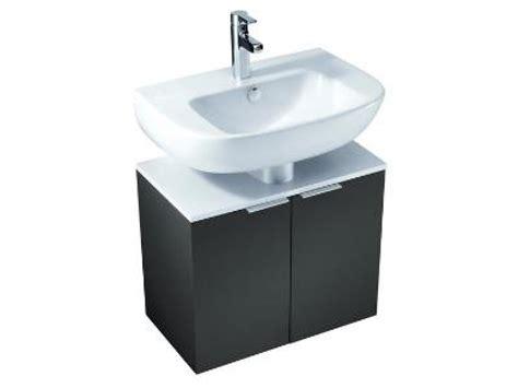 sous meuble lavabo od 201 on up meuble sous lavabo l 60 x p 34 x h 50 7 cm m 233 lamin 233 brillant gris anthracite
