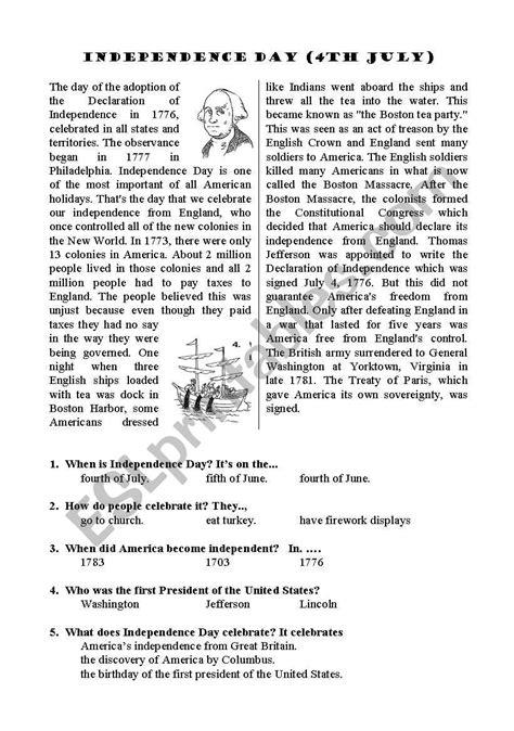 Independence Worksheet